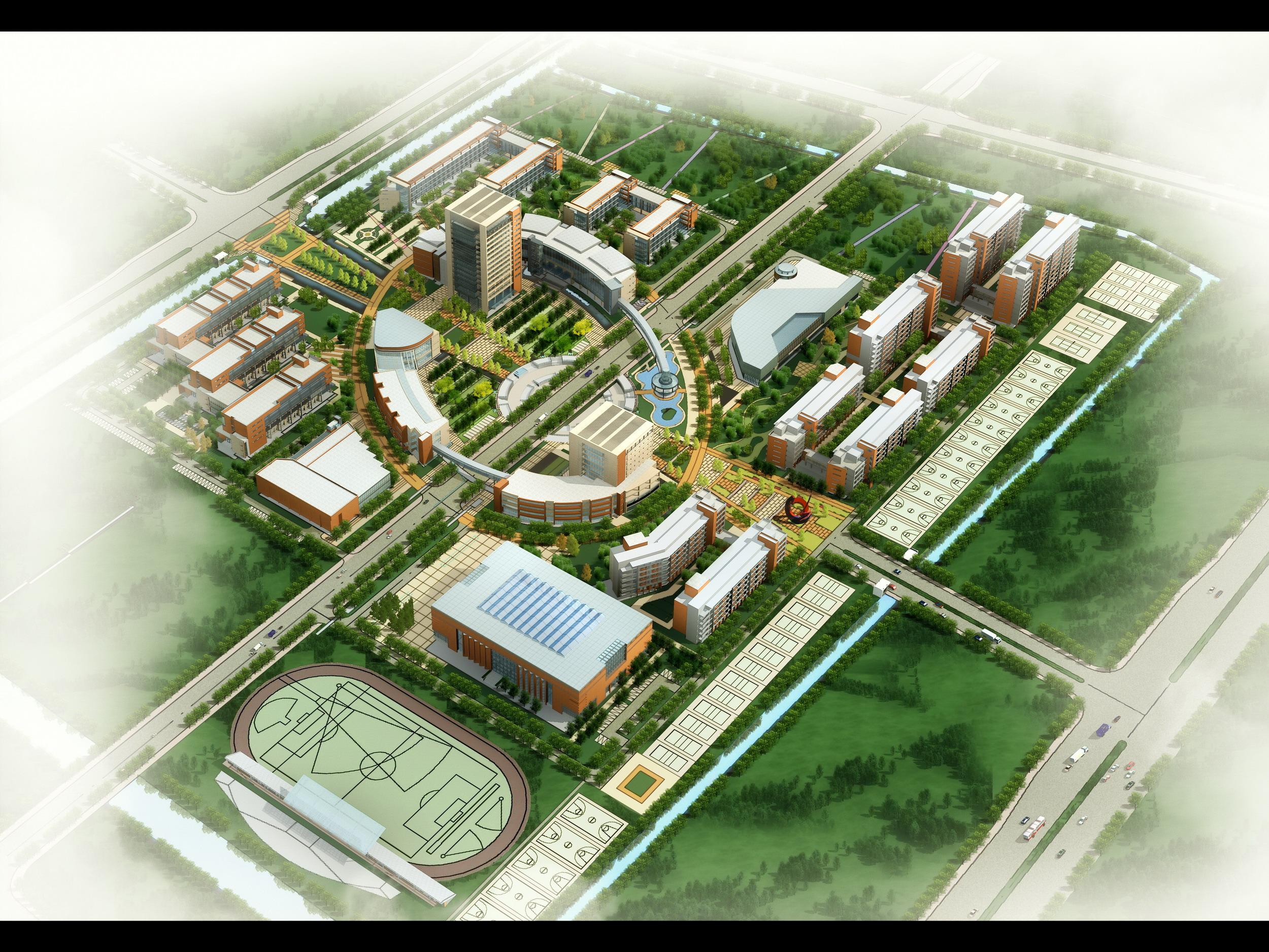 苏州工业园区外包学院鸟瞰图